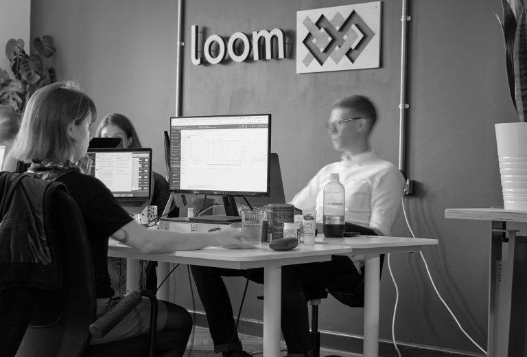 Tommy Pearce in Loom office